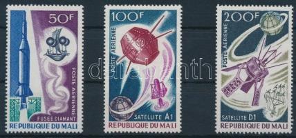1967 Űrkutatás sor Mi 141-143
