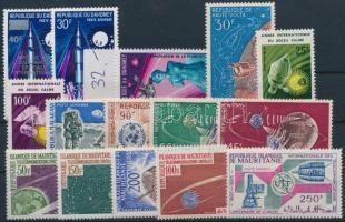 Space Research 1963-1972 3 sets + 10 stamps, Űrkutatás motívum 1963-1972  3 klf sor + 10 klf önálló érték