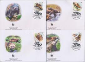 2004 WWF: Torkosborz sor 4 db FDC-n Mi 1198-1201