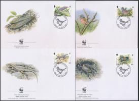 2004 WWF: Veszélyeztetett állatok sor 4 db FDC-n Mi 1143-1146