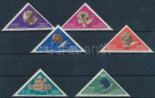 1964 Űrkutatás sor Mi 778-783
