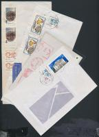 24 db NSZK levél közte sok légiposta, ajánlott, sok képes bélyeggel + Lengyelország 1972-1976 6 db díjjegyes levelezőlap