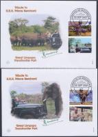 2002 WWF Afrikai elefánt sor 4 db FDC-n Mi 2393-2396