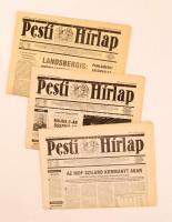 1990 Pesti Hírlap, 3 szám, benne az induló számmal: 1990. április 14. I. évfolyam 1. szám. + 1990 április 10 I. évfolyam 1. mutatványszám + 1990 április 12. I. évfolyam 1. mutatványszám. Főszerkesztő Riskó Géza. Jó állapotban.