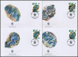 2002 WWF kagylók sor 4 db FDC-n Mi 973-976