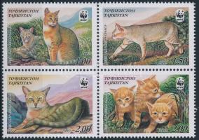 WWF Jungle cat block of 4, WWF mocsári macska négyestömb