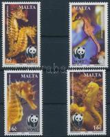 2002 WWF Tengeri csikók sor + sor 4 db FDC-n Mi 1207-1210