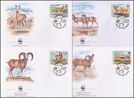 1998 WWF: Urial sor 4 db FDC-n Mi 1819-1822