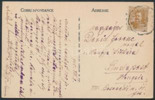 1925 Képeslap vasúti bélyegzéssel
