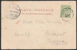 1908 Képeslap vasúti bélyegzéssel