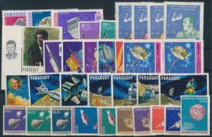 Space Research 1961-1964 25 stamps + 6 pairs, Űrkutatás motívum 1961-1964 25 klf önálló érték + 6 klf pár
