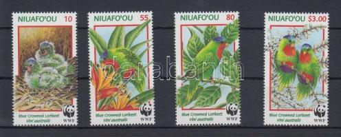 1998 WWF Papagájok sor Mi 326-329