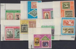 Centenary of stamp corner set, 100 éves a bélyeg ívsarki sor