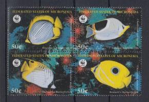 1997 WWF Pillangóhalak négyestömb Mi 583-586