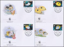 1997 WWF Pillangóhalak sor 4 db FDC-n Mi 583-586