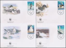 WWF Seabirds set 4 FDC WWF Tengeri madarak sor 4 db FDC-n
