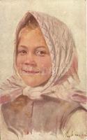 Lány kendővel, Paul Heckscher No. 297. s: Lily Wrangel, Grete, Paul Heckscher No. 297. s: Lily Wrangel