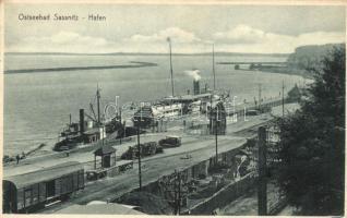 Sassnitz, Ostseebad, Hafen / port, ships