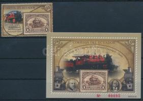 Train stamp + block, Vonat bélyeg + blokk