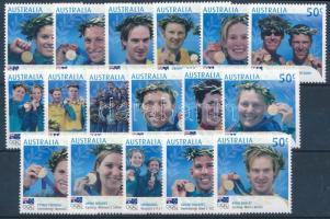 2004 Nyári olimpia, Athén - Ausztrál arany érmesek sor Mi 2335-2351