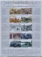 2000 Pillanatképek a XX. századból kisív Mi 797-806
