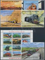 1993 Vonatok a világ minden tájáról kisívsor Mi 2294-2341 + blokksor Mi 264-268