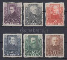 1931 Osztrák költők sor Mi 524-529