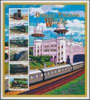 1999 Mozdonyok a világ minden tájáról kisívsor Mi 3258-3269 + blokksor Mi 418-419