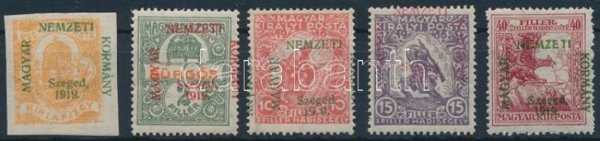 Szeged 1919 5 klf bélyeg Bodor vizsgálójellel (12.400) (Hadisegély 40f falcos / hinged)