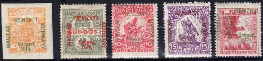 Szeged 1919 5 klf bélyeg Bodor vizsgálójellel (7.450)