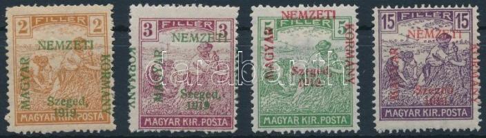 Szeged 1919 4 klf Arató érték Bodor vizsgálójellel (6.450) (5f, 15f falcos / hinged)