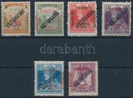 Szeged 1919 6 klf Köztársaság érték Bodor vizsgálójellel (13.100) (15f betapadás / gum disturbance)