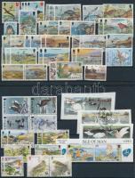 1973-2000 63 db Madár motívumú bélyeg 2 stecklapon