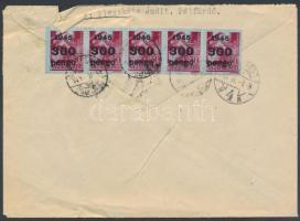 1946 (7. díjszabás) 10x kisegítő 300P/30f távolsági levélen