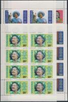 Erzsébet királynő kisívsor + blokkpár, Queen Elizabeth mini sheet set + block pair