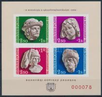 1976 Bélyegnap (49.) ajándék vágott blokk piros sorszámmal (17.000) / Mi block 118 present of the post