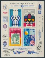 UPU, Olympics Football World Cup, VIT set imperforated blockform, UPU, olimpia, labdarúgó vb, VIT sor vágott blokkformában