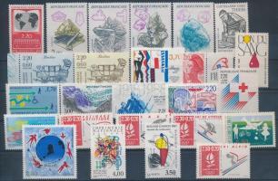 1985-1991 25 db bélyeg, közte sorok, pár