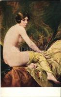 Ruhe / Erotic art postcard, Apollon Sophia 60 s: Penot