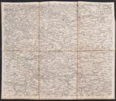 cca 1910 Lublin és környéke térkép vászonra kasírozva / Map of Lublin and area on canvas 52x40 cm