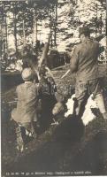 WWI K.u.K. military, infantry, machine gun, Cs. és kir. 50. gyalogezred, Möldner hadnagy, gépfegyver a repülők ellen, Hadifénykép Kiállítás