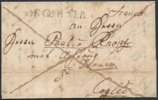 1841 Franco levél OROSHÁZA - Cegléd
