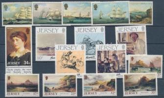 1985-1989 16 db bélyeg, közte sorok