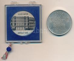 Csíkszentmihályi Róbert (1940-) 1989. 1956-1989 Vértanúink emlékére MDF alpakka emlékérem (43mm) + 1983. 1883-1983 Budapest / 100 év a termékminőség szolgálatában fém emlékérem, plombált ÁPV tokban (42,5mm) T:2