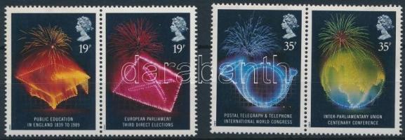 1989 Évfordulók sor 2 párban Mi 1198-1201