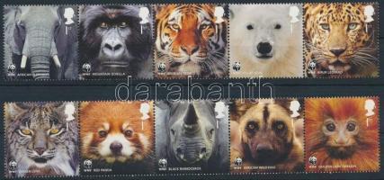 2011 50 éves a WWF sor 2 ötöscsíkban Mi 3067-3076
