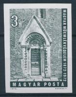 1972 Műemlékvédelem vágott bélyeg
