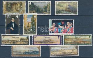 1980-1985 11 stamps, 1980-1985 11 db bélyeg, közte sorok