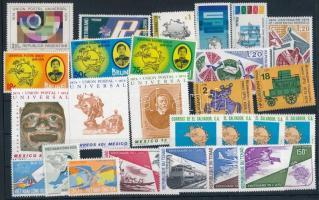 1974-1975 Centenary of UPU 26 stamps, 1974-1975 100 éves az UPU 26 klf bélyeg