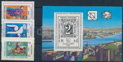 1984 Posta- Világkongresszus sor Mi 1349-1351 + blokk 76